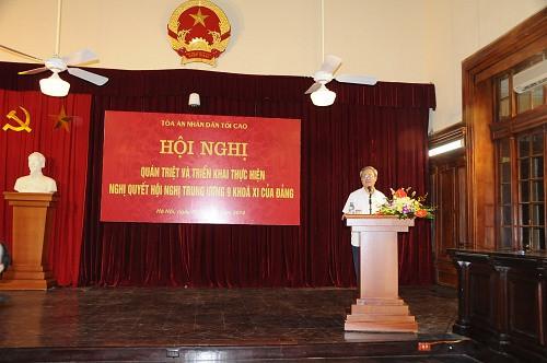 TANDTC tổ chức Hội nghị quán triệt và triển khai thực hiện Nghị quyết Hội nghị Trung ương 9 khóa XI