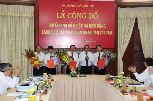 TANDTC công bố quyết định bổ nhiệm và điều động nhiều cán bộ lãnh đạo cấp Vụ