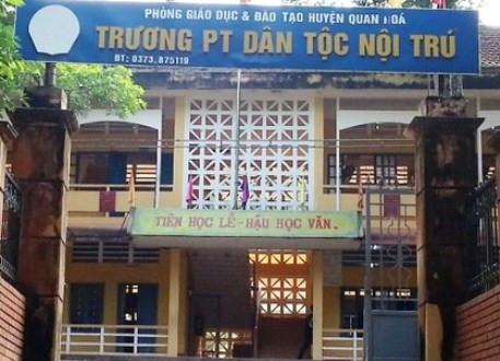 Thanh Hóa: Cách chức Hiệu trưởng trường dân tộc nội trú