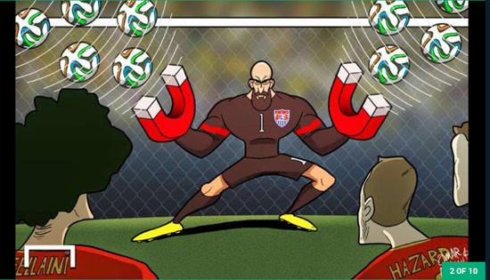 Bóng đá thế giới 2014 qua góc nhìn hài hước