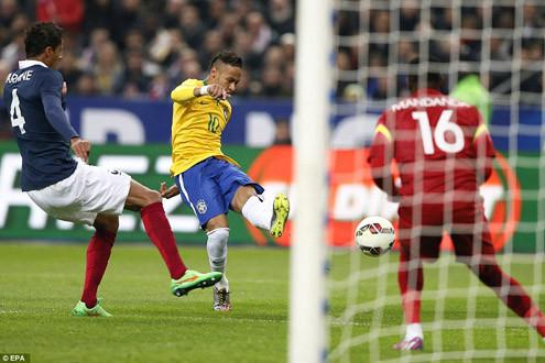 Clip Neymar ghi bàn, Brazil thắng Pháp 3-1