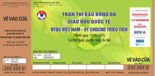 50 đến 200 nghìn đồng/vé xem trận Việt Nam và CHDCND Triều Tiên