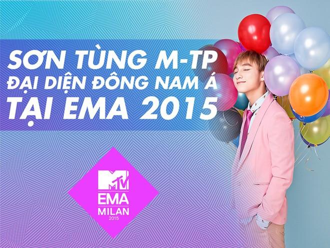 MTV EMA 2015: Sơn Tùng M-TP chiến thắng tại khu vực Đông Nam Á