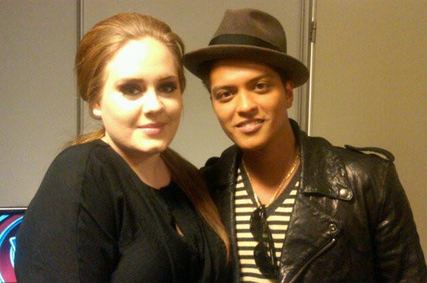 Bruno Mars sẽ kết hợp với Adele trong album 25