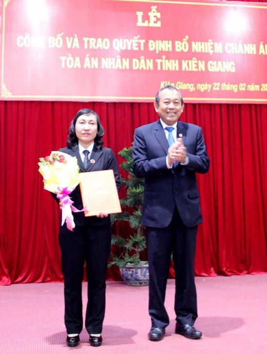 Bổ nhiệm Chánh án TAND tỉnh Kiên Giang