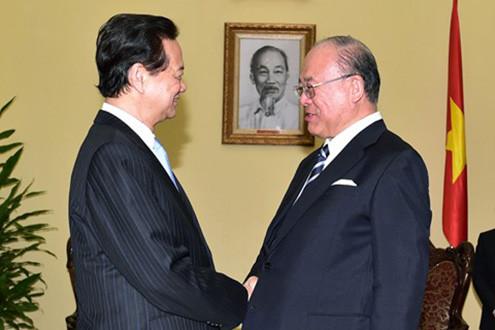 Thủ tướng tiếp Cố vấn đặc biệt Liên minh nghị sỹ hữu nghị Nhật - Việt