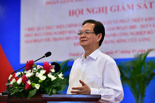 Thủ tướng Nguyễn Tấn Dũng: Đẩy mạnh ứng dụng KHCN để phát triển ĐBSCL