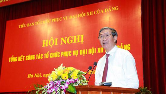 Tổng kết công tác tổ chức phục vụ Đại hội XII của Đảng