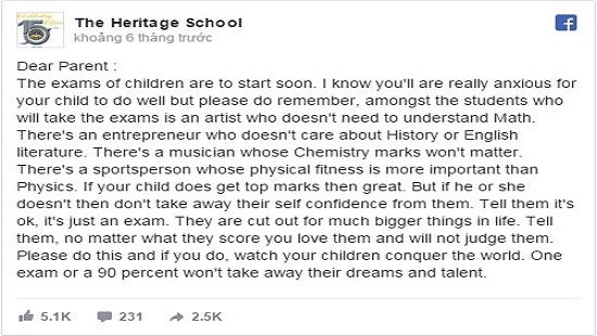 Một kỳ thi sẽ không thể lấy đi ước mơ hay tài năng của một đứa trẻ