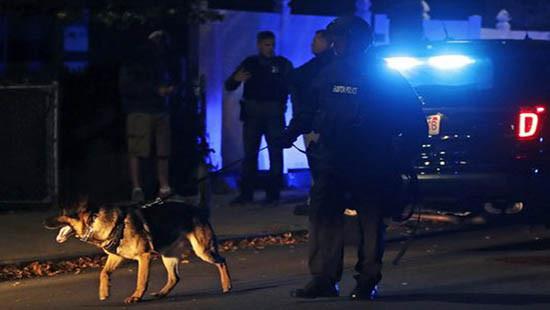 Một vụ nổ súng ở khu Đông Boston hai cảnh sát Mỹ bị thương vong