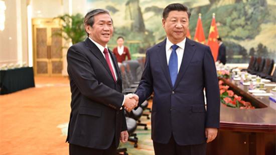 Thường trực Ban Bí thư Đinh Thế Huynh hội kiến Tổng Bí thư, Chủ tịch nước Trung Quốc