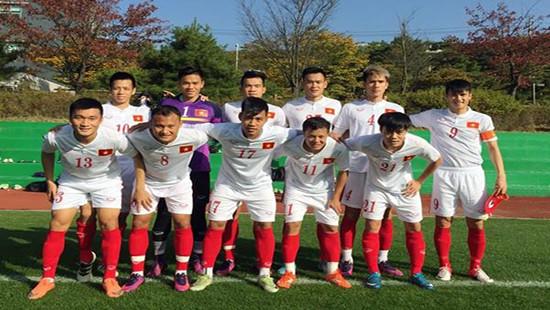 Tuyển Việt Nam thắng trận giao hữu cuối tại Hàn Quốc