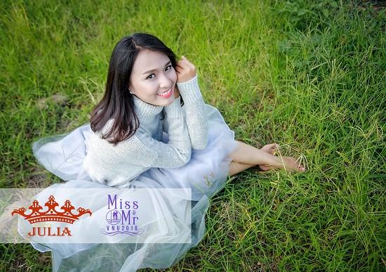 Ngắm vẻ đẹp dịu dàng của tân hoa khôi ĐHQG Hà Nội