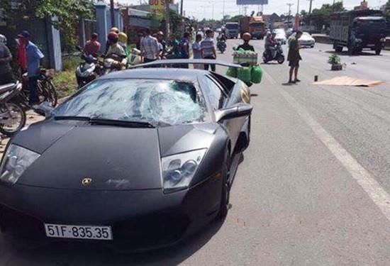 Siêu xe Lamborghini của đại gia tông chết người đi bộ
