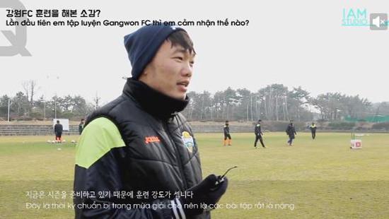 Xuân Trường được đá chính từ đầu mùa cho Gangwon FC
