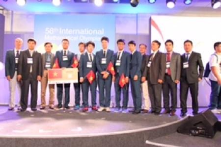Việt Nam giành 4 huy chương vàng Olympic Toán quốc tế