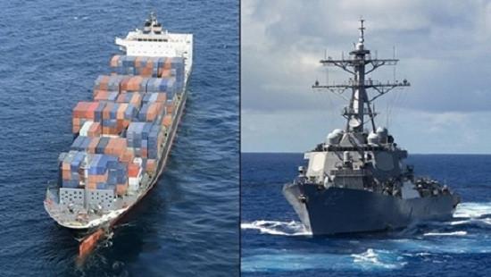 """Mỹ lần đầu """"nhận lỗi"""" vụ tàu khu trục bị tàu chở hàng Philippines đâm bẹp"""