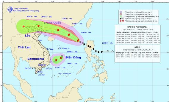 Bão số 7 di chuyển nhanh, áp thấp nhiệt đới đang mạnh thêm