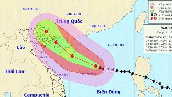 Công điện yêu cầu ứng phó mưa lũ do ảnh hưởng của bão số 7
