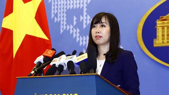 Việt Nam phản đối hai vấn đề liên quan đến Trung Quốc