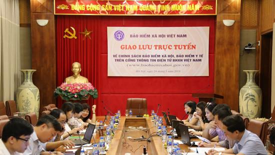 BHXH Việt Nam giao lưu trực tuyến về chính sách BHXH, BHYT