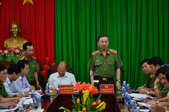 Bộ trưởng Tô Lâm làm việc với lãnh đạo Bình Thuận