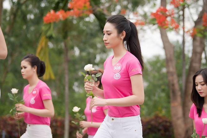 Thí sinh Hoa hậu Việt Nam mang hoa trắng tới viếng mộ Hàn Mặc Tử - ảnh 12