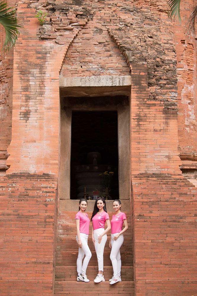 Thí sinh Hoa hậu Việt Nam mang hoa trắng tới viếng mộ Hàn Mặc Tử - ảnh 4