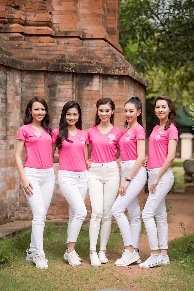 Thí sinh Hoa hậu Việt Nam mang hoa trắng tới viếng mộ Hàn Mặc Tử - ảnh 5