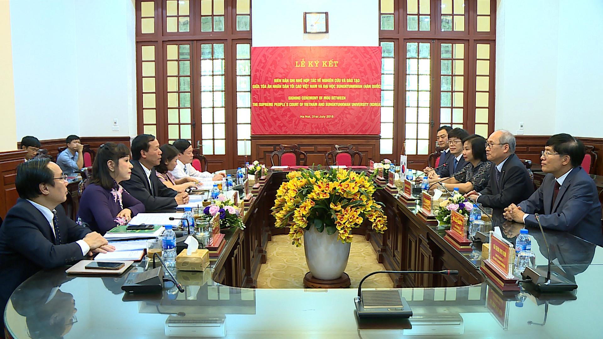 TANDTC ký kết biên bản ghi nhớ hợp tác về nghiên cứu và đào tạo với Hàn Quốc