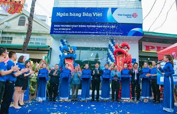 Đầu tháng 08/2018, Ngân hàng Bản Việt mở mới liên tiếp 5 điểm giao dịch