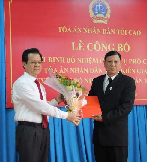 TAND tỉnh Kiên Giang: Bổ nhiệm chức vụ Phó Chánh án và chức danh Thẩm phán