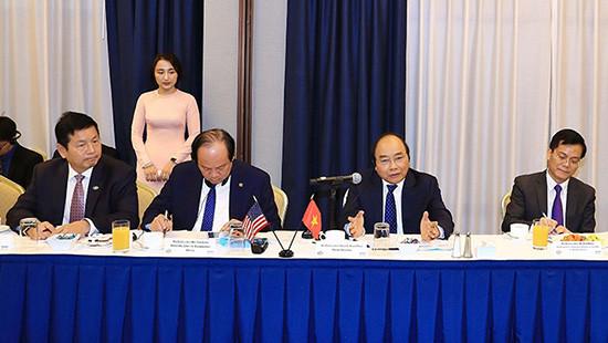 Thủ tướng kêu gọi các doanh nghiệp Hoa Kỳ đẩy mạnh đầu tư vào Việt Nam