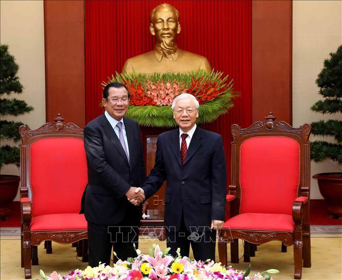 Các cuộc tiếp kiến lãnh đạo Việt Nam của Thủ tướng Camphuchia Hun Sen