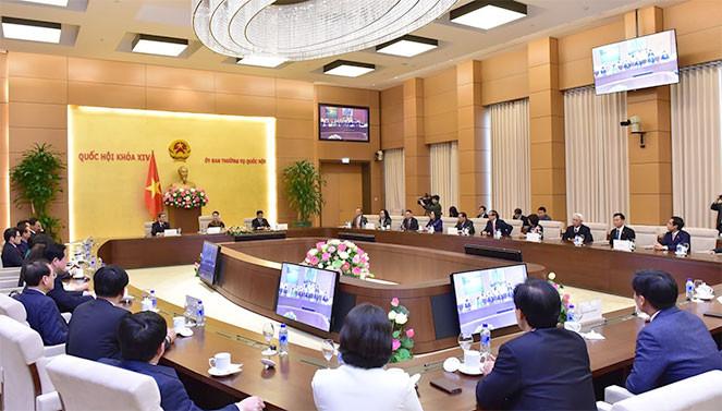Chủ tịch Quốc hội Nguyễn Thị Kim Ngân tiếp Chủ tịch Nhóm nghị sỹ hữu nghị Hàn-Việt