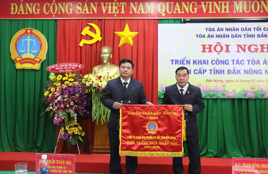 Triển khai công tác năm 2019 tại TAND tỉnh Đắk Nông và Quảng Nam