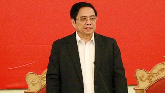 Ông Phạm Minh Chính chủ trì phiên họp thứ nhất Tiểu ban Điều lệ Đảng Đại hội XIII