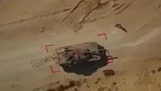 Video: Xe tăng của quân đội Israel bị một máy bay không người lái phá hủy