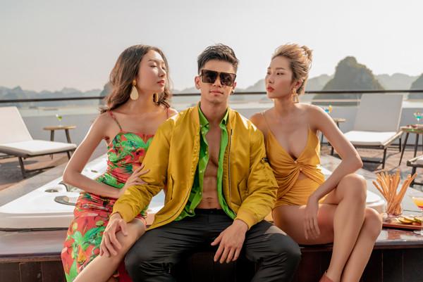"""Trọng Hiếu đóng MV """"Anh đổ rồi đấy"""" cùng dàn chân dài siêu hot"""