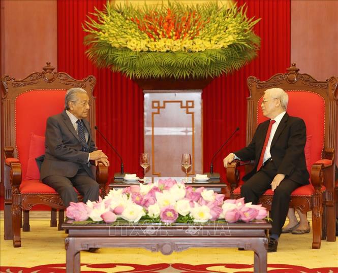 Tổng Bí thư, Chủ tịch nước Nguyễn Phú Trọng tiếp Thủ tướng Malaysia