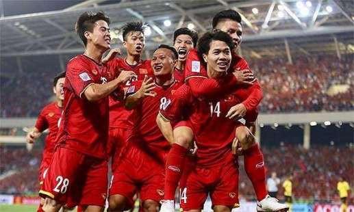 Đội tuyển Việt Nam tăng 2 bậc trên bảng xếp hạng FIFA