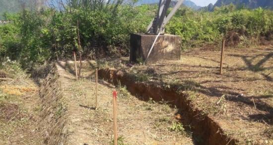 Hòa Bình: Sụt lún nghiêm trọng sát chân trụ điện 500kV