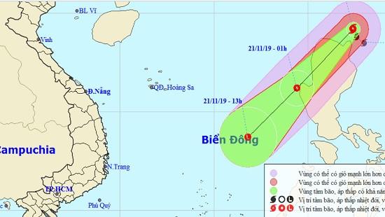 Bão Kalmaegi vào Biển Đông và suy yếu thành áp thấp nhiệt đới