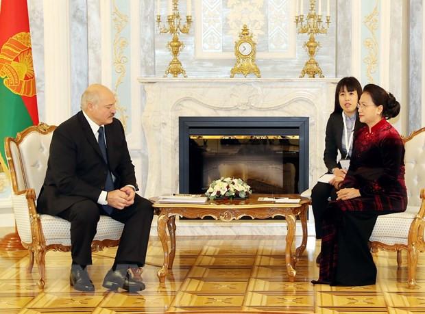 Chủ tịch Quốc hội Nguyễn Thị Kim Ngân hội đàm, hội kiến các nhà lãnh đạo Belarus