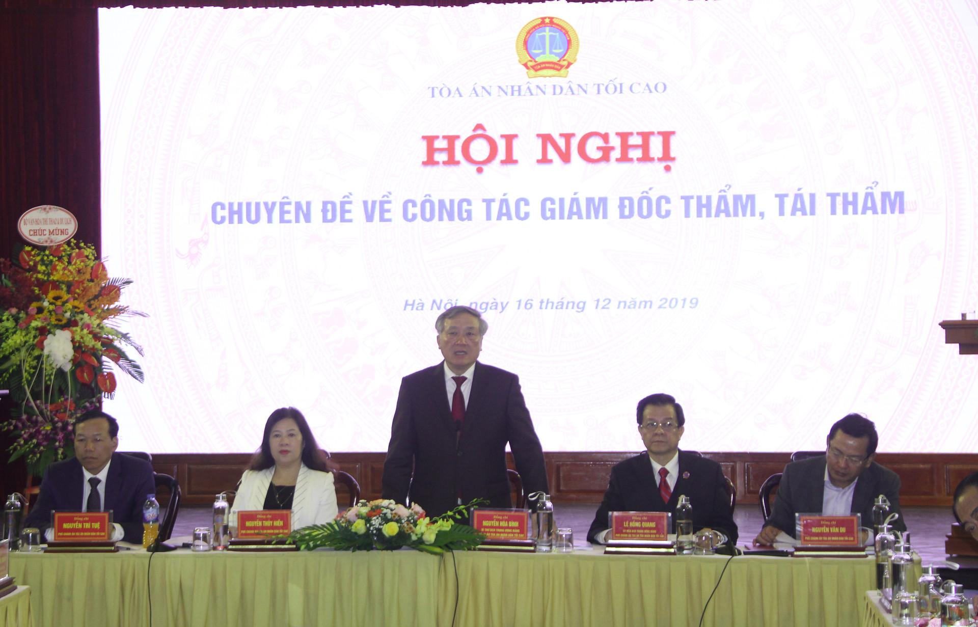 Hội nghị chuyên đề công tác giám đốc thẩm, tái thẩm