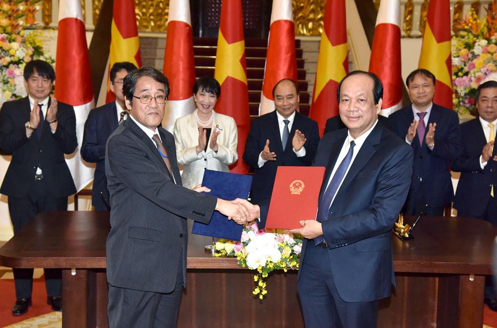 Việt Nam-Nhật Bản ký Công hàm trao đổi cung cấp phần cứng của Hệ thống thông tin báo cáo Chính phủ