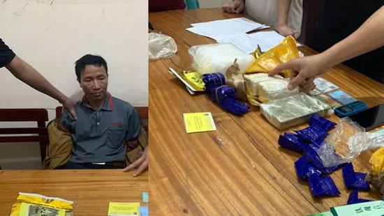 Nghệ An: Bắt đối tượng vận chuyển số lượng lớn ma túy trên đường