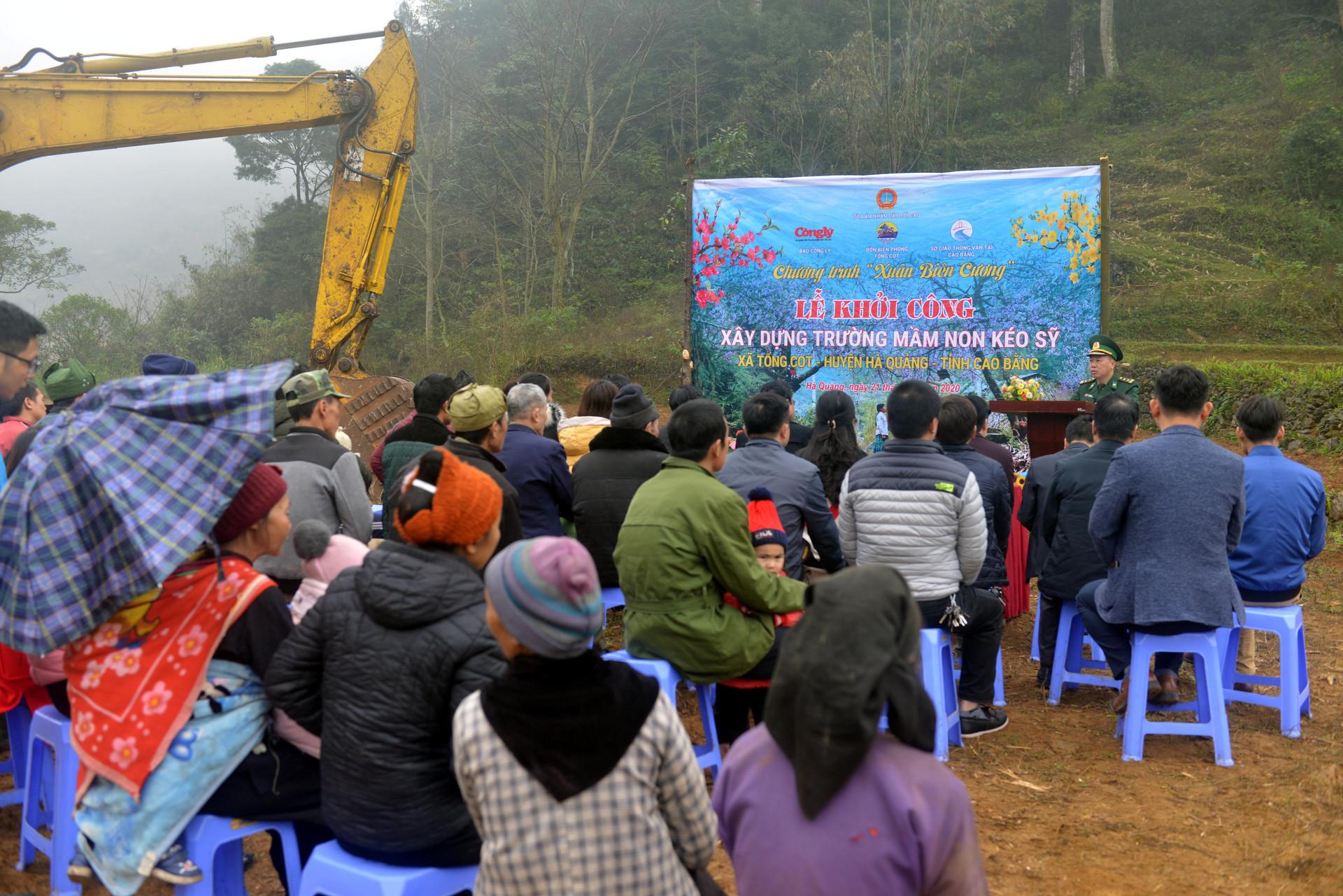 Báo Công lý phối hợp khởi công xây dựng Trường mầm non Kéo Sỹ