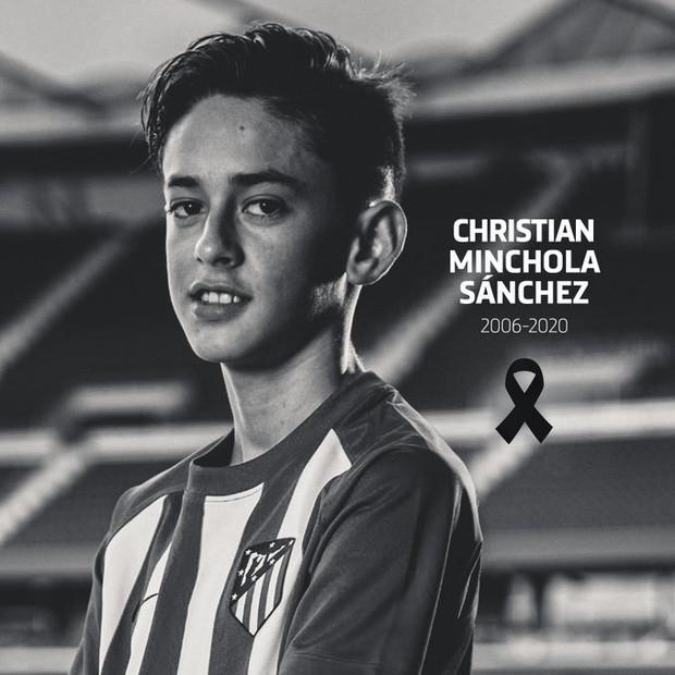 Tài năng triển vọng của CLB Atletico Madrid qua đời ở tuổi 14