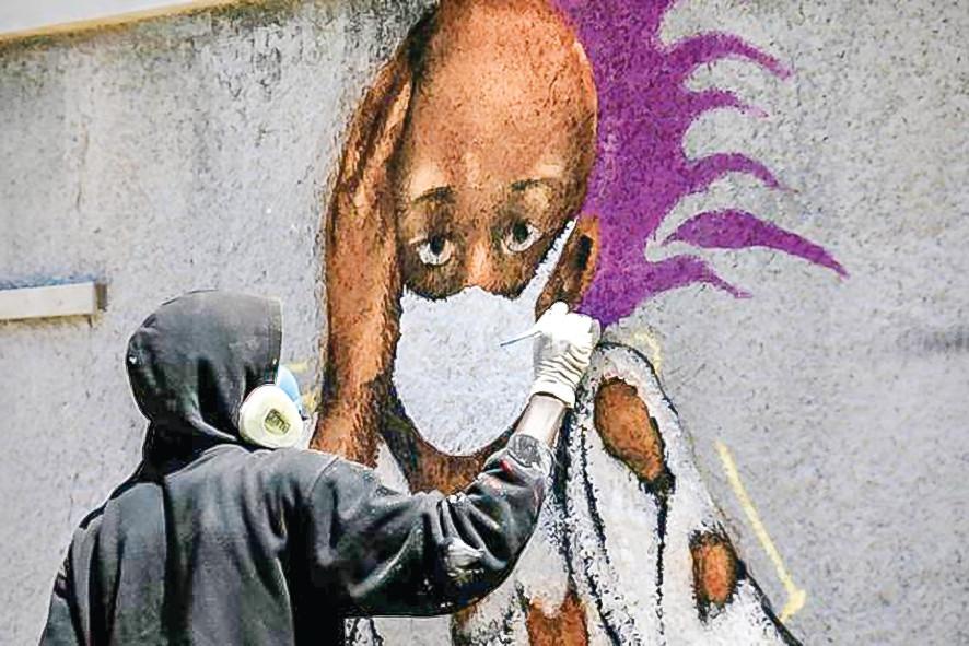 Các nghệ sĩ graffiti của Senegal tham gia cuộc chiến chống lại Covid-19